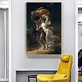 KWzEQ Decoración de la Imagen tormentosa de la Famosa Sala de Estar de Arte de Pared con póster y Lienzo Impreso,Pintura sin Marco,75x112cm
