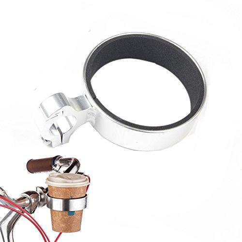 Cutogain Fahrrad-Kaffeehalter aus Aluminiumlegierung für Fahrradlenker und Getränkehalter, silber