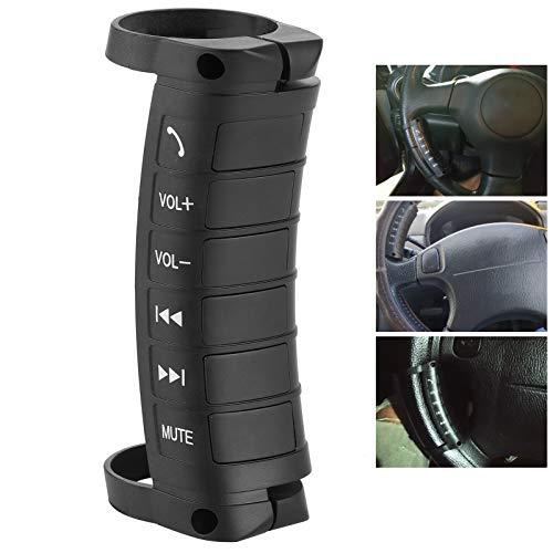 Botón Media Control remoto para volante Portátil Inalámbrico Bluetooth Control remoto para automóvil Llamadas telefónicas Controlador de música Navegación Controlador de DVD doble Din Universal