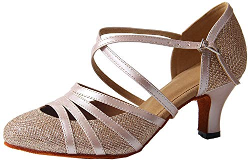 Syrads Zapatos de Baile Latino para Mujer Danza de Tango Samba Vals de Salón Sandalia de Salsa
