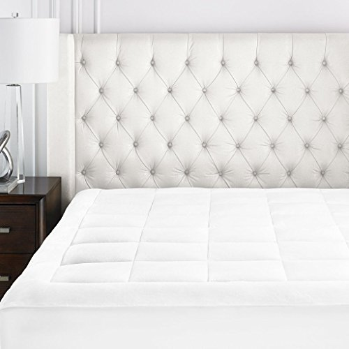 Beckham Hotel Collection Premium Microplush Mattress Pad - Hypoallergenic Ultra Soft Overfilled Topper with Deep Fit -Twin XL