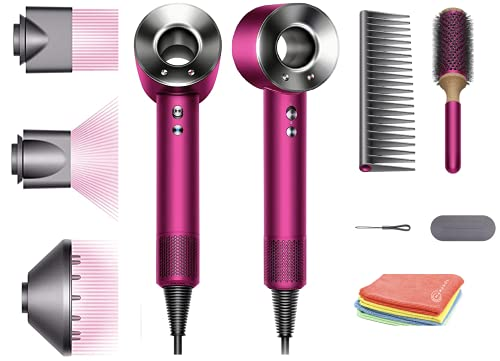 Flagship Professional Dyson Supersonic Hair Dryer Limited Gift Edition:Fast Drying, Controlled Styling, Powerful,Low Noise, Light Weight, Engineered Different Hair Types w/One Marxsol Microfiber Cloth