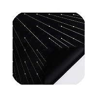 10Sheet防水花の包装紙、ゴールドワイヤーポルカドットのギフトラップ花屋はスクラップブック素材、ブラックパッキングDIYの用品