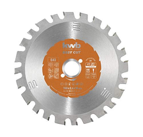 kwb Easy-Cut cirkelzaagblad voor handcirkelzagen 584333 (160 x 16 mm, 24 tanden, speciale wisseltanden, universeel blad)