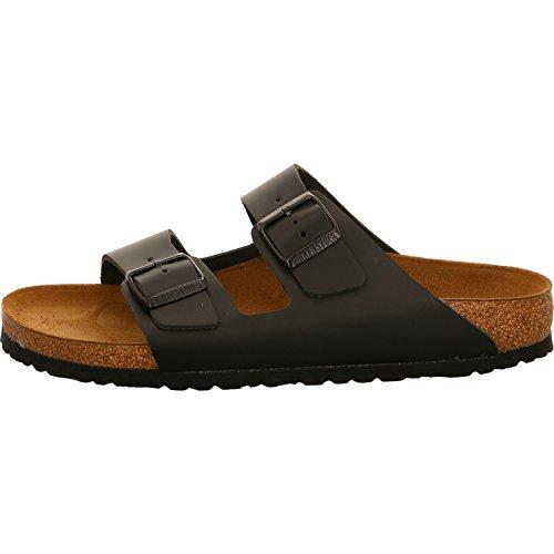 Birkenstock Schuhe Arizona Naturleder Schmal Black (051193) 48 Schwarz