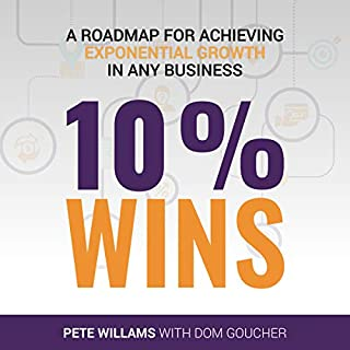 10% Wins: A Roadmap for Achieving Exponential Growth in Any Business                   By:                                                                                                                                 Pete Williams,                                                                                        Dom Goucher                               Narrated by:                                                                                                                                 Rowan Barker                      Length: 1 hr and 19 mins     Not rated yet     Overall 0.0