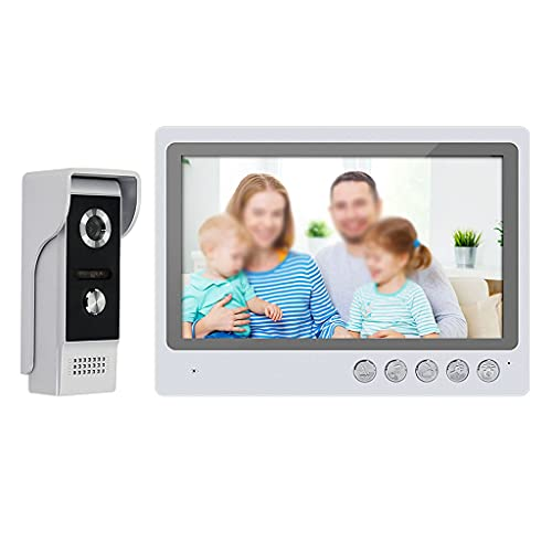 SFFZY 9 Inch WiFi Video Door Phone Wireless Video Intercom System for Home DoorPhone Doorbell Wired Camera + Remote Unlock (Color : Package B)