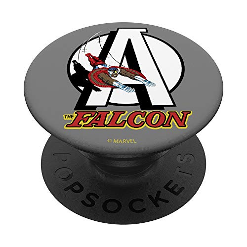 Marvel Avengers The Falcon Retro Logo PopSockets Grip and Stand for Phones and Tablets