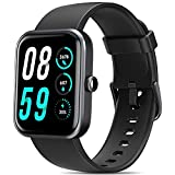 Smart Watch, AOKESI 2021 Version 1.69'' Smart Watch for Android iOS Phones, Smart Watches for Men with Alexa Built-in, 5ATM Waterproof Activity Tracker with 24/7 Heart Rate, Blood Oxygen, Watch Black