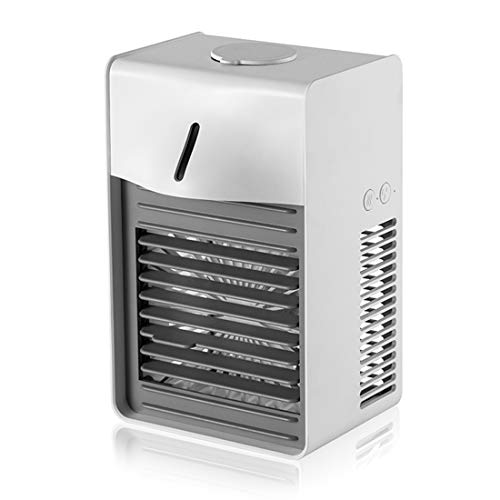 The perseids Mini Air Cooler, 3 in 1 Portable Air Conditioning Fan, Purifier, Humidifier with Separate Water Tank, 3 Fan Speed Portable Cooling Fan, for Bedroom Family Car Office (White)