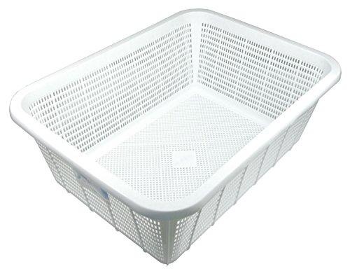 リス 角ざる 深型 大 ホワイト W36.2×D48.9×H18cm H&H キッチンバスケット DL 日本製