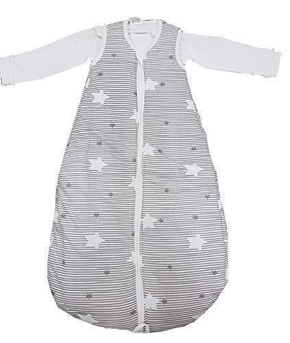 DIMO-TEX Baby Winter Schlafsack wattiert (86/92, Sternchen-Grau)