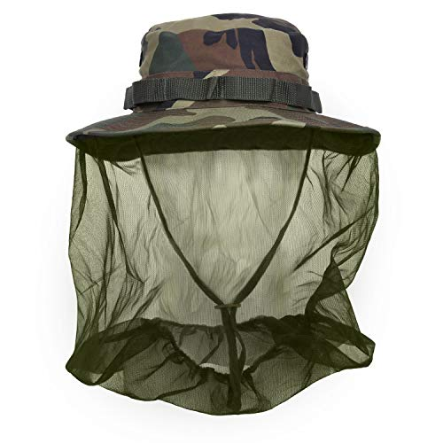Rothco Boonie Hat with Mosquito Netting, Olive Drab, Size 7.75