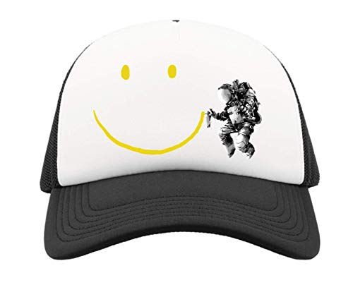 Desconocido Astronaut Smile Graffiti Cosmic Art Gorra de Camionero de Media Malla...