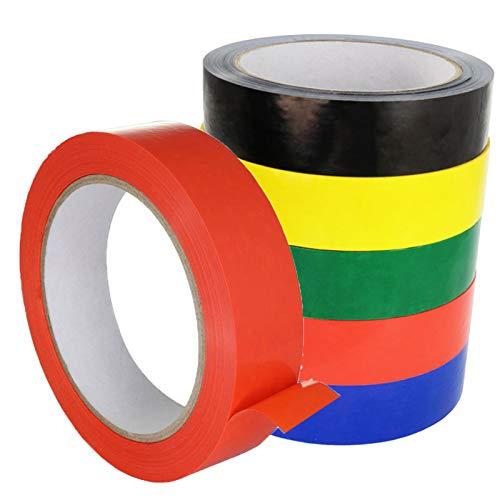 Einseitiges PVC-Klebeband | Universal einsetzbar | Zum Verkleben und Markieren | 25 mm x 66 m | Farbe wählbar ~ rot