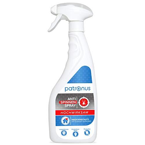 Patronus Anti Spinnen-Spray für Spinnen-Abwehr 500ml - effektives Spinnen bekämpfen für Innen und Außen (Haus, Wohnung, Boot etc.) - natürlich biologisch abbaubar & geruchsneutral