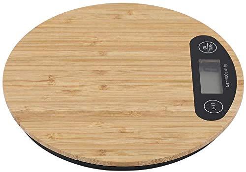 Rayber Balances De Cuisine Poids Numérique Grammes Et Onces Balance de Cuisine en Bambou Balance de Cuisine Précise