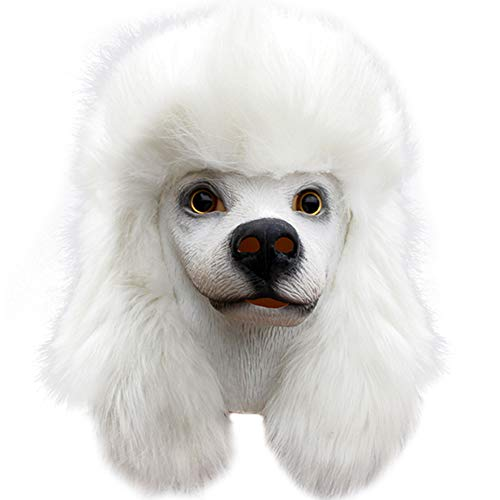 Ironhorse Disfraz de Halloween de lujo para fiesta de ltex Super Bowl Underdog Mscara de cabeza de perro caniche