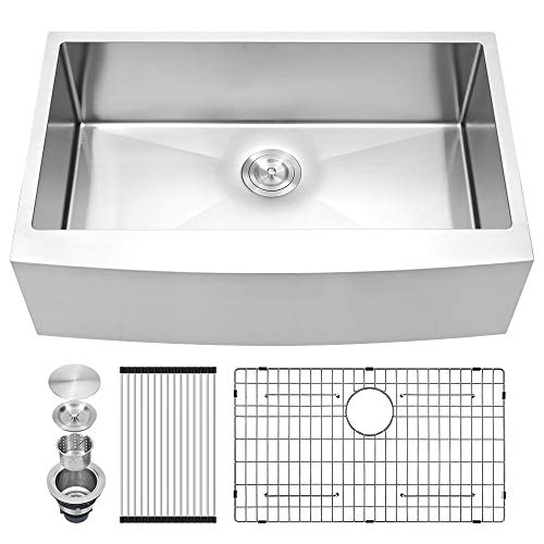 Sarlai 33 Inch Stainless Steel Farmhouse Sink