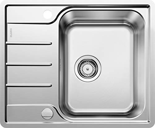 BLANCO LEMIS 45 S-IF Mini – Edelstahlspüle für die Küche für 45 cm breite Unterschränke – Mit IF-Flachrand und verkürzter Abtropffläche – 525114