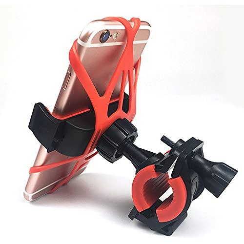 DGDH Montaje del teléfono de la Bicicleta, Monte Bike Handlebar Rack Bicycle Multifuncional Universal Holder Mountain Motocicleta Móvil Móvil Fácil de Instalar y Duradero. (Color : Red)