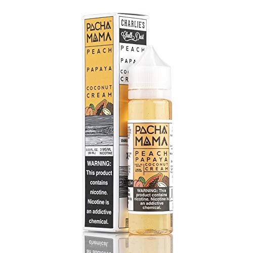 Pachamama - E-liquids - Peach-Papaya-coconut cream 60ml (sin nicotina) by Charlie's Chalk Dust
