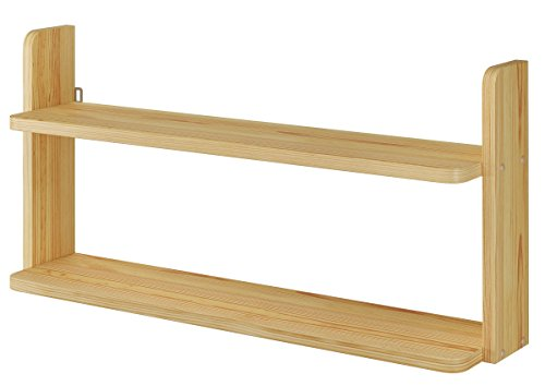 Erst-Holz® Regal Wandregal Bücherbord Bücherregal Kiefer massiv für Etagenbetten 90.26-0