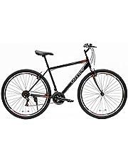 دراجة هوائية رياضية جبلية من  سيف واي  مقاس 15.5 انش بيكبل من الحديد وناقل حركة نسخة من شيمانو ومساعد امامي