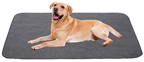 Geyecete-lavables Almohadillas de entrenamiento forro polar altamente absorbentes,reutilizables,parte inferior impermeable, alfombrilla para perro cachorro de entrenamiento-se ajusta jaula estándar