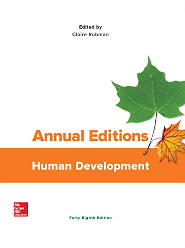 Compare Textbook Prices for Annual Editions: Human Development 48 Edition ISBN 9781260564464 by Rubman, Claire