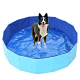 Piscina infantil plegable para mascotas piscina para mascotas bañera cachorros bañera gato perro mascota de interior y exterior piscina, Bañera de piscina infantil de verano de PVC portátil