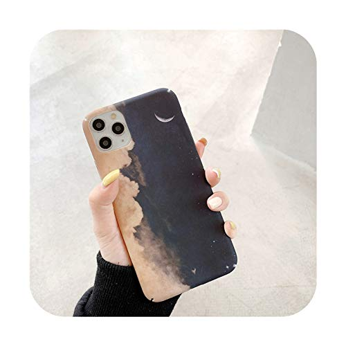 Starry Sky Scenery Funda para iPhone 11 Pro Max XS Max XR X 6 6S 7 8 Plus Utral delgada cubierta trasera de plástico duro PC - IU0770-para iPhone 12Pro Max