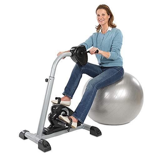 maxVitalis Bewegungstrainer, Arm-und Beintrainer 2in1 mit Motor, Rehatrainer, Heimtrainer, Pedaltrainer mit Trainingsdisplay & Massage-Handgriffe, Seniorensport (Arm- und Beintrainer 2.0)