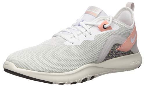 Nike Women's Flex Trainer 9 Cross, vast Grey/White-Coral Stardust-Phantom, 12 Regular US