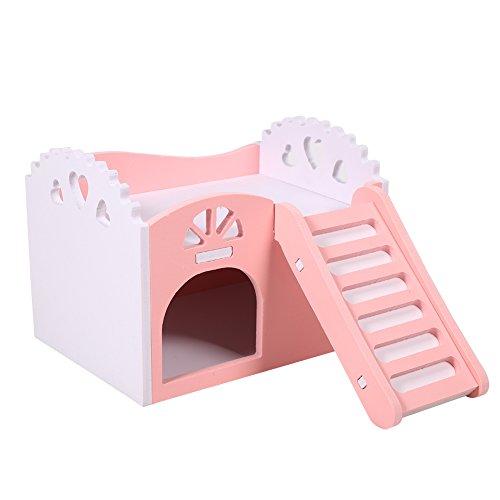 Yosoo Hamster Käfig mit Spielzeug 2 Ebenen mit Treppe Design Schublade-Stil Hütte für Hamster Kleintier, 15 x 11 x 11 cm