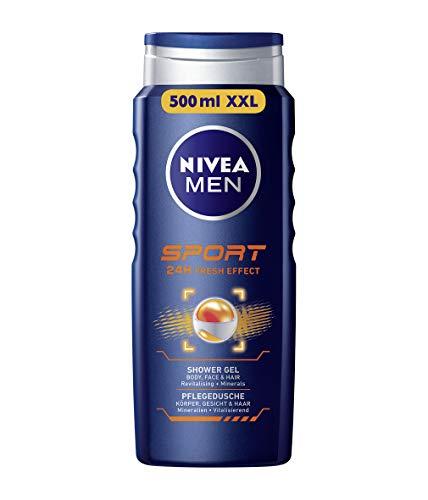 Nivea Men Duschgel für Körper, Gesicht & Haar, Flasche, Sport(1 x 500 ml)