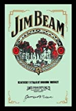 Jim Beam Sour Mash Bourbon Whiskey Nostalgia Espejo de BAR Espejo BAR Espejo 22 X 32CM