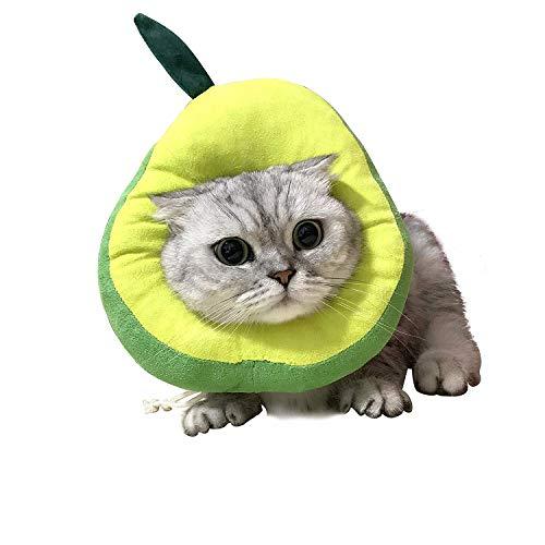 USAMS Schutzkragen für Katze, Katzen Halskrause Verstellbar Weich Soft Anti Biss Safty Kragen Wundheilung Halskragen für kleine Haustiere (Avocado)