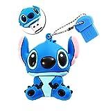 Usb de 16 Gb, Usb 2.0, Hecho de Silicona, con Forma de Personaje Stitch, Color Azul...