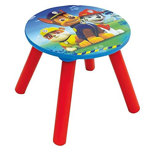 Fun House Fun HOUSE-71594-PAT Patrouille-Tabouret pour Enfant, Bois MDF, Bleu, 28x28x26,5 cm