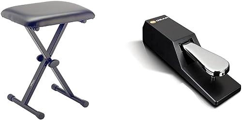 Stagg KEB-A10 Banquette pour Clavier rembourrée à Hauteur réglable & M-Audio SP-2 - Pédale de Sustain Universelle de ...
