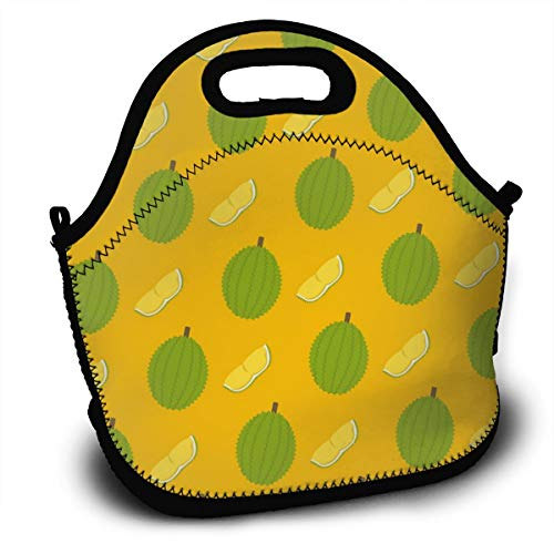 Iop 90p Durian und Schnittmuster Wiederverwendbare Mittagessen Einkaufstasche Rucksack Lunchbox Container Organizer