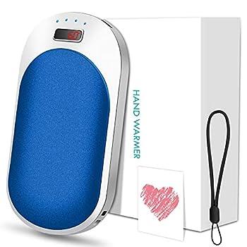 Chauffe-Mains Rechargeable, 9000mAh USB Chauffe-Poche Électronique, Chauffe-Mains Réutilisable, Power Bank Portable, Chaufferette Main Cadeaux pour Femmes Hommes Noël