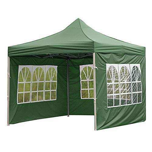 YDXC Portable Tent Sidewall Outdoor Canopies Tent Surface Waterproof Party Gazebo Top Cover Garden Shade Shelter Windbar 6X6m (Blue Roman Window)