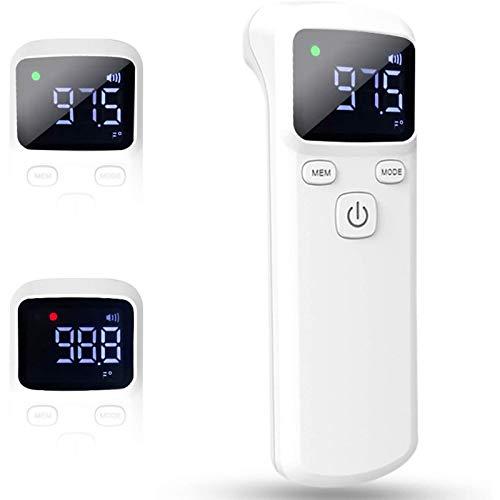 Jiujiuwanli Dual-Mode Fieberdetektor Kontaktlose Infrarot Digitales Hochpräzises Stirnmessinstrument mit LED Display für Babys Kinder Erwachsene Objekt Zimmer Handheld Sofortige Messung (A)