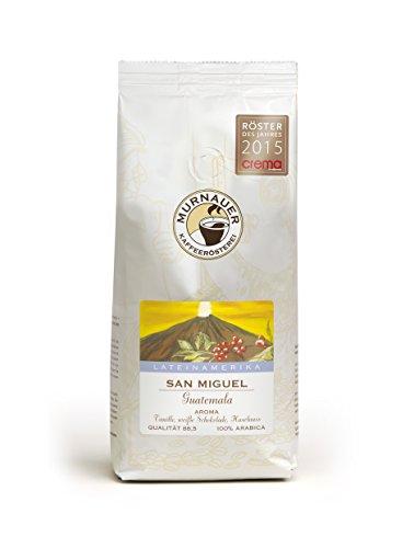 Murnauer Kaffeerösterei SAN MIGUEL - Kaffeebohnen aus Guatemala - Premium Kaffee - von Hand frisch & schonend geröstet - Espresso und Filterkaffee - 250g ganze Bohne