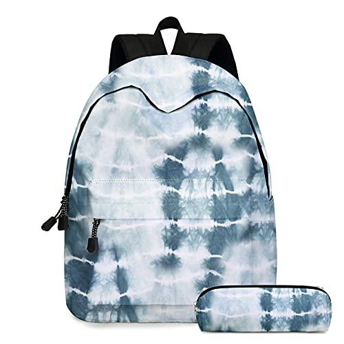 ZBK Tie-dye Series - Mochila escolar para portátil con estuche para lápices para niños y niñas, 8 colores