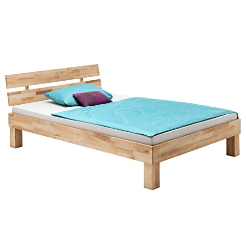 IDIMEX Lit Simple pour Enfant ou Adulte LARA Couchage 120x200 cm Cadre de lit en hêtre Massif Naturel huilé