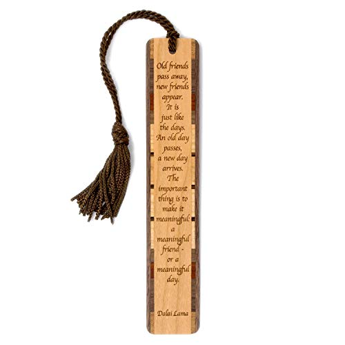 Dalai Lama Tibetan Spiritual Leader Quote Engraved Wooden Bookmark with Tassel - Search B082MTGPHL for Personalized Version