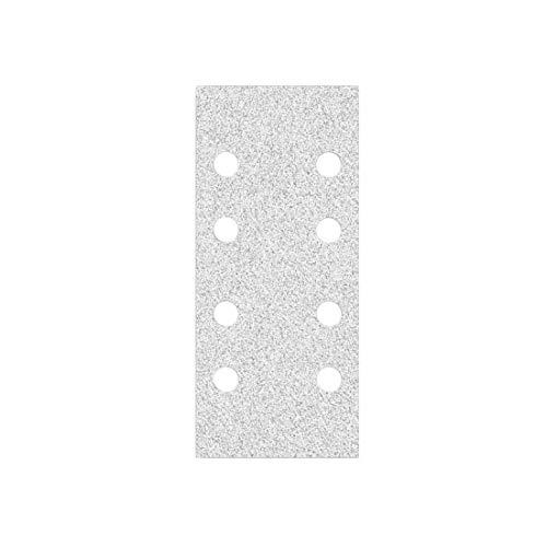 MioTools Shark Klett-Schleifblätter, 186 x 93 mm, 8-Loch, Korn 180, f. Schwingschleifer, Korund mit Stearat (50 Stk.)